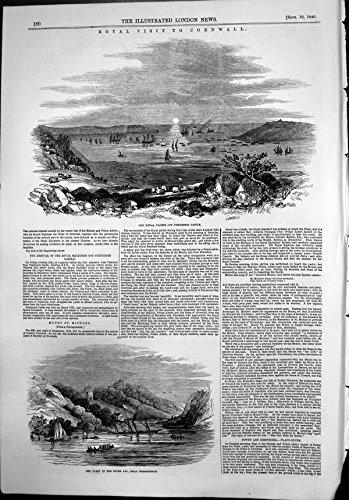 Fiume Leggiadramente Fal Tregothnan 1846 della Stampa degli Yacht del Castello Reale Antico di (Castello Pendennis)