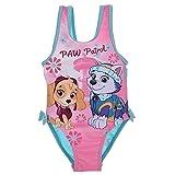 Paw Patrol Mädchen Badeanzug Bademode Pink und Türkis für Kleinkinder und Mädchen bis 3 Jahre Gr. 74, 81, 86, 96 (Hellblau, Gr. 86 cm (ca. 24 Monate))