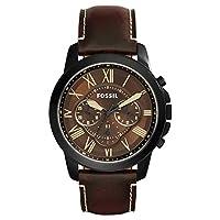 Fossil Reloj Cronógrafo para Hombre de Cuarzo con Correa en Cuero FS5088 de Fossil