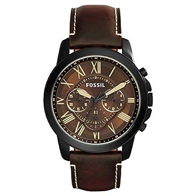 Fossil Reloj Cronógrafo para Hombre de Cuarzo con Correa en Cuero FS5088