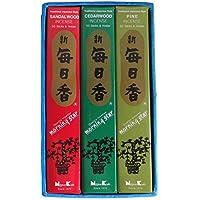 Geschenk-Set: 3 Packungen Morning Star japanische Räucherstäbchen mit Duftthema »WALD« (Kiefer-, Sandel- und Zedernholz... preisvergleich bei billige-tabletten.eu