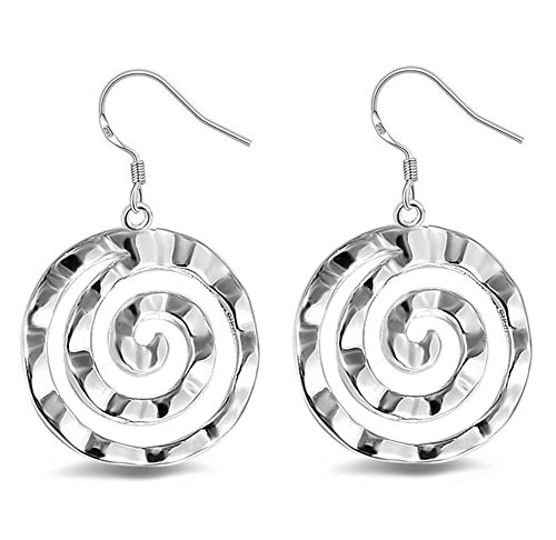 Hosaire 1 Paar Frau Kreative Schmucksachen Popular silversmith earrings pendants accessories Lollipop shape Circle jewelry Geschenk