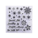 Star Eleven Weihnachts-Stempel mit Schneeflocke, transparent, für Bastelarbeiten, Scrapbooking, Album, Papier, Karten, Dekoration