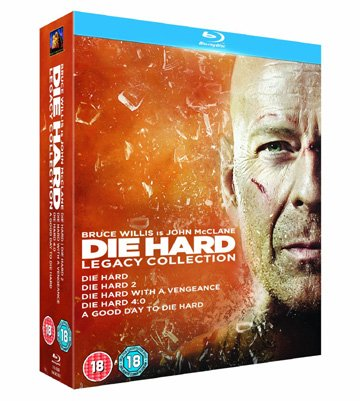 Die Hard Legacy Collection (5 Films) - 5-Disc Box Set ( Die Hard / Die Hard 2: Die Harder / Die Hard: With a Vengeance (Die Hard 3) / Live Free or Die Hard (Die [ UK Import ] (Blu-Ray) (- Dvd-live Free, Die Hard)