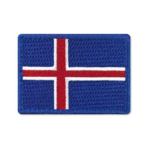 Parche bordado con bandera de Islandia 7 x 5 cm