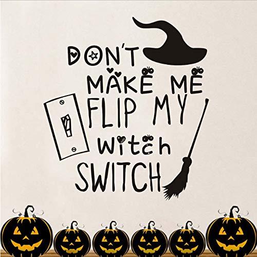 leber Für Kinderzimmer Machen Sie Mich Nicht Meine Hexe Schalter Besenstiel Wanddekor Festival Party Halloween Dekoration Zubehör 54 cm X 59 cm ()