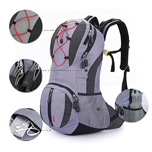 X2X 22 L Wasserdichter Rucksack für professionelles Bergsteigen Camping Wandern Bike Taschen 47 × 26 × 15 Grau