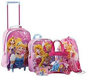 Official Disney Princess Licensed 5 piece luxury luggage set