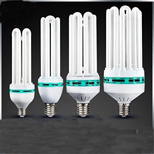 2 confezioni Bianco E40 E27 4U 6U 8U 185W 300W 400W risparmio energetico tubo lampadina ad alta potenza casa luce bianca interna Illuminazione industriale lampada fluorescente, E40, medio 4U 85W