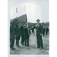 Vintage photo of russo generale paga visita di ritorno a Gen. Simpson.