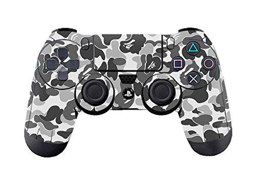 Morbuy PS4 Controller Skin Diseñador Piel Pegatina para Sony PlayStation 4 PS4 Slim PS4 Pro DualShock mando inalámbrico x 1 (Graffiti Grey)
