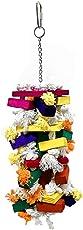 Luffaschwamm Braid Kauen Spielzeug,Papagei Spielzeug Farbe Baumwolle Knoten Block Papagei Kauen Spielzeug, Vogel Spielzeug Farbe zufällig