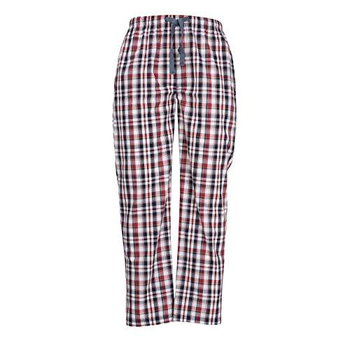 TOM TAILOR Underwear Herren Pyjama Hose, lang Schlafanzughose, Blau (Mood Indigo 8433), Medium (Herstellergröße:50/M)