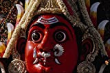 595043 Head Of Goddess With Red Face Detail A4 Photo Poster Print 10x8