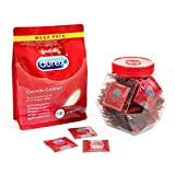 Durex Contatto Comfort Preservativi Sottili ad Alta Sensibilità con Barattolo Contenitore in Omaggio, 100 Profilattici