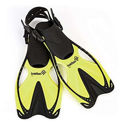 Fins - Swim Fins - Diving Fins - Adjustable Speed Fins for Diving,Snorkeling, Swimming & Watersports - Ivation