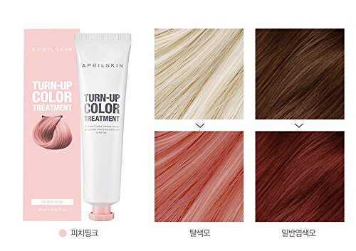 [Avril Skin] côtelé Couleur Traitement 60 ml/Self Cheveux Eau de Javel (Pêche Rose)