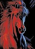 Malen nach Zahlen Neuerscheinungen Neuheiten   DIY Oelgemaelde durch Zahlen, Malen nach Zahlen Kits   Feuer und Eis Pferde 16  20 Zoll   digi