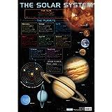 Chart Media Poster The Solar System/Sonnensystem, für Schulen geeignet, in englischer Sprache, 60x40cm