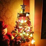 Fenido Albero di Natale 60 cm Albero di Natale Artificiale con Illuminazione a LED e Decorazioni Natalizie Home Party Festival Decorazione Fai da Te