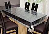 #9: Yellow Weaves Waterproof Transparent Dining Table Cover 90*60 Inches