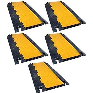 5 Kanal Kabelbrücke / Kabelschutz / 80 x 45 x 5,0 cm für PKW & LKW Überfahr-Rampe (5 Stück)