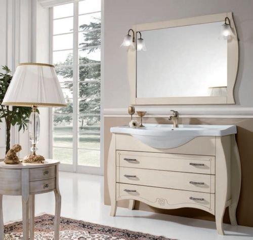 Latest mobile da bagno decapeu classico moderno con lavabo for Dellavedova arredamenti