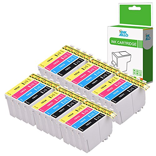 Inkjello cartuccia d' inchiostro di ricambio per Epson WorkForce WF-2010W WF-2510WF WF-2520NF WF-2530WF WF-2540WF WF-2630WF WF-2650DWF WF-2660DWF wf-2750dwf wf-2760dwf 16x L (B/C/M/Y, 24-pack)