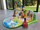 Enlarge toy image: SURREAL 3 in 1 Baby Piano Play Gym PlayMat Music and Lights - Green