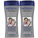 Biorène Shampooing Déjaunissant Intensif pour Cheveux Gris/Blanc Biorène 200 ml - Lot de 2