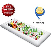FCAROLYN Inflatable Buffet And Salad Food & Drink Tray Serving Bar With Portable Inflator by FCAROLYN