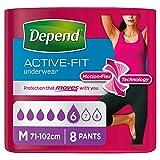 Depend Active Fit Underwear Medium 8 Pack