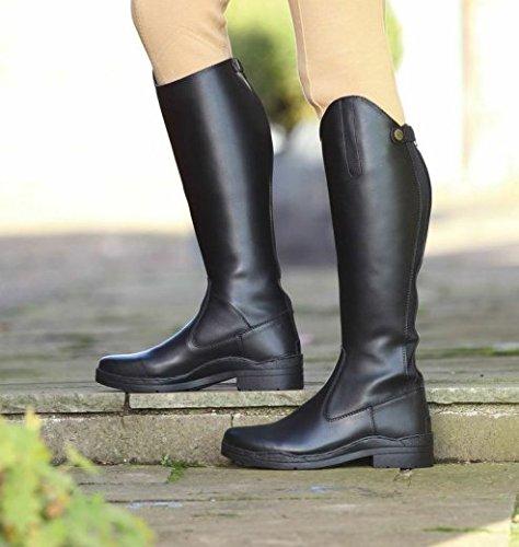 Stanton d'équitation longues d'équitation Chaussures stable Yard noir