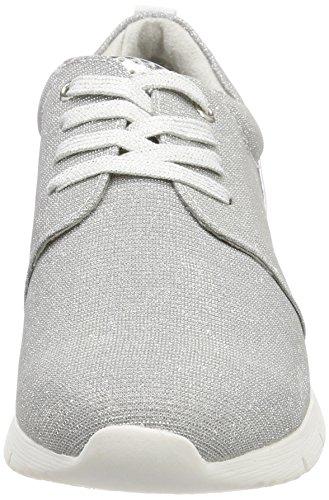 Marco Tozzi 23700, Sneaker Femme Argent (peigne Argent)