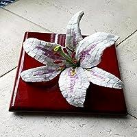 Giglio, fiore in mosaico tridimensionale