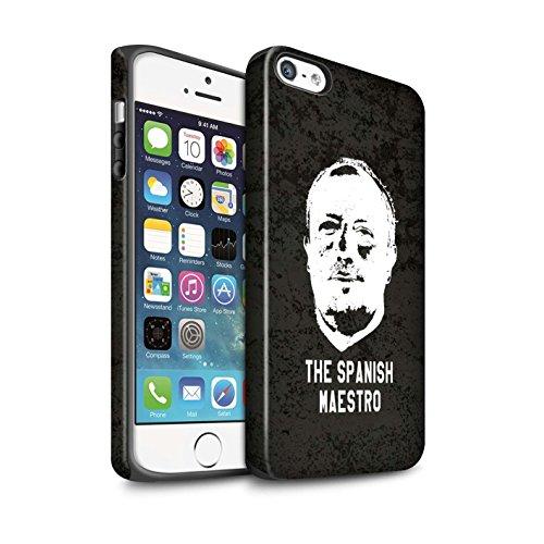 Offiziell Newcastle United FC Hülle / Matte Harten Stoßfest Case für Apple iPhone SE / Pack 8pcs Muster / NUFC Rafa Benítez Kollektion Spanisch Maestro