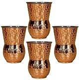 Edelstahl kupfer weingläser satz von 4, große becher (13,5 unzen) trinkbecher