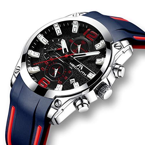 7b8d445fdd0b Relojes Hombre Relojes de Pulsera Impermeable Deportivo Cronógrafo  Luminosos Reloj Hombre Grandes Diseñador Lujo Calendario Analógico