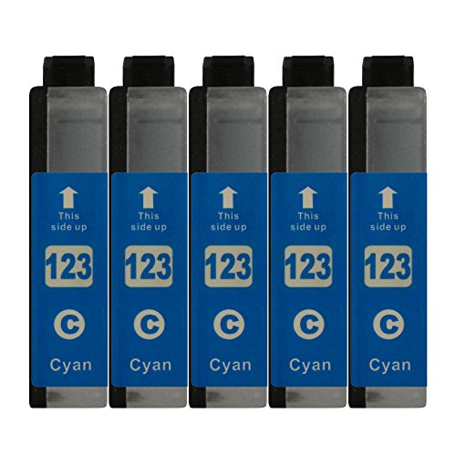 5 Druckerpatronen kompatibel zu LC123 Cyan für Brother DCP-J132W DCP-J152W DCP-J172W DCP-J552DW DCP-J752DW DCP-J4110DW MFC-J245 MFC-J470DW MFC-J650DW MFC-J870DW MFC-J4410DW MFC-J4510DW MFC-J4610DW MFC-J4710DW MFC-J6520DW MFC-J6720DW MFC-J6920DW