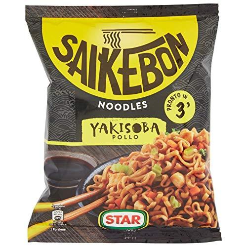 NOODLES STAR SAIKEBON YAKISOBA GUSTO POLLO 93 GR SPAGHETTI ETNICO SALSA SOIA