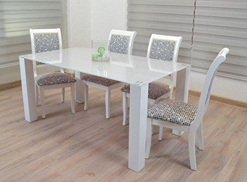 Euro Tische Designer Tisch 160x90 Esstisch Stubentisch Küchentisch Glastisch Glasplatte Hochglanz