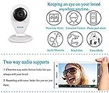 Sricam SP009 A Mini Videocámara de Vigilancia con Microfone, Baby Monitor, Visión Nocturna, 720p HD, H.264, P2P, Todas las funciones de APP, Sin filiwifi, DVR, Apoyo MicroSD de hasta 128 GB