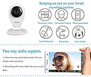 mini camaras inalambricas baratas: Sricam SP009 A Mini Videocámara de Vigilancia con Microfone, Baby Monitor, Visió...