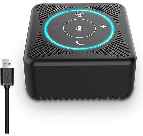 360 /° Omnidirektional f/ür YouTube f/ür Skype-Chats Black Aufnahme Audio Mikrofon PC USB Mikrofon