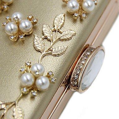 Frauen elegante Hochwertige Luxus Diamanten Perlen Abendtasche White
