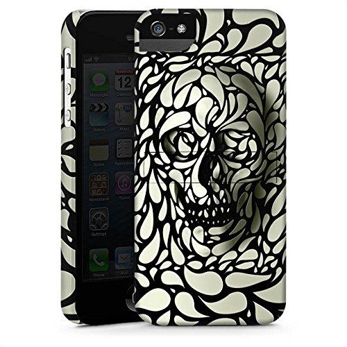 Apple iPhone 5s Housse Étui Protection Coque Deep Skull Tête de mort Crâne CasStandup blanc