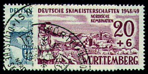 Goldhahn Französische Zone Württemberg Nr.38-39