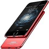 Iphone 6/6S Ultra-Dünn 0.9mm Hülle + Farbe Vollständige Abdeckung Schutzfolie,SUNAVY Neu 360-Grad Anti-stoß Anti-Kratzer Leichte Hart Handyhüll Schutzhülle für Apple6/6S,4.7 zoll,Rot