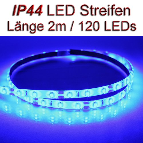 LED Streifen Strip BLAU wasserdicht ca. 2 m 120x LEDs PCBw