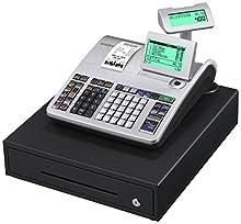 Casio s400mb 1b-sr FIS gdpdu enfichables Caisse enregistreuse Inclusive Pile et logiciel licence, SD Card pack complet et Hot Line gratuite, argent/noir